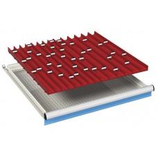 komplete lade-indeling 36x36Eh met 3 en 4-delige borengoten