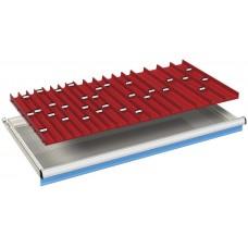 komplete lade-indeling 54x27Eh met 2, 3 en 4-delige borengoten