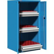 Famepla Machinekast 36x36Eh, 3 laden 100% uitschuifbaar, 1450 mm hoog
