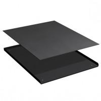 3-zijdige opstaande rand met rubber mat voor ladekast 27x27