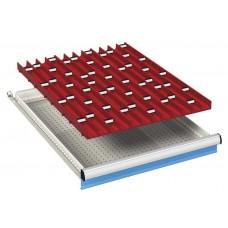 komplete lade-indeling 27x36Eh met 4-delige borengoten