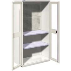 Famepla Vleugeldeurkast, 1026 x 555 x 2000 mm (b x d x h), deuren met venster