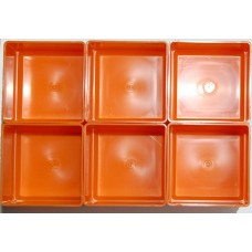 EMM bakjes oranje afm. 104x104x35 mm