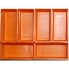 EMM bakjes oranje afm. 52x104x35 mm