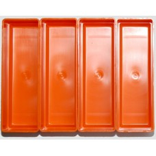 EMM bakjes oranje afm. 52x156x35 mm