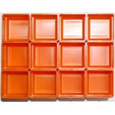 EMM bakjes oranje afm. 52x52x35 mm