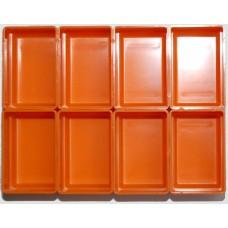 EMM bakjes oranje afm. 52x78x35 mm